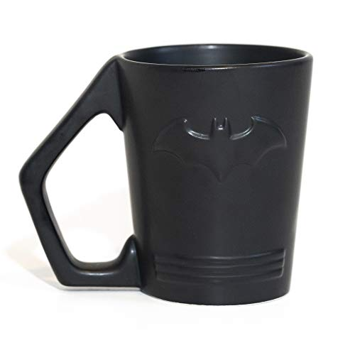 Paladone Batman Shaped Ceramic Coffee Mug - DC Comics Embossed Cup -