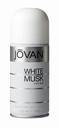 Jovan Deodorant Body Spray for Men, White Musk, 5 Ounce