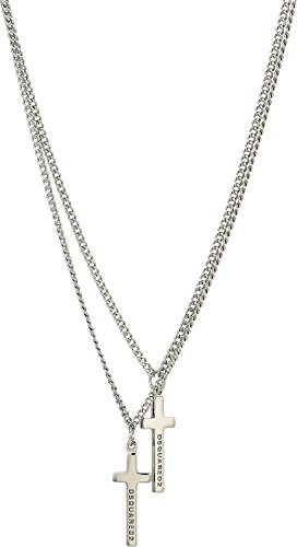 DSQUARED2  Men's Cross Necklace Palladio One Size by DSQUARED2