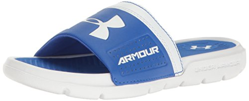 Under Armour Kids' Boys' Playmaker VI Slides Sandal - Whi...