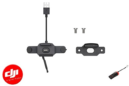 DJI Genuine CrystalSky Mavic/Spark Remote Controller Mounting Bracket with 1pc Luckybird USB Reader by LUCKYBIRD
