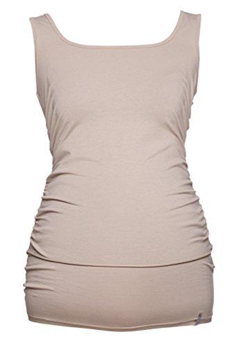 Be! Mama - Camiseta de amternidad con apertura para dar el pecho para mujer/maternidad Beige
