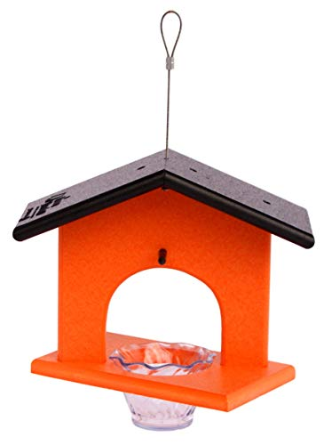 Amish-Made Oriole Bird Feeder, Eco-Friendly Poly-Wood Hanging Decorative Oriole Jelly Feeder - Feeder Oriole Deluxe