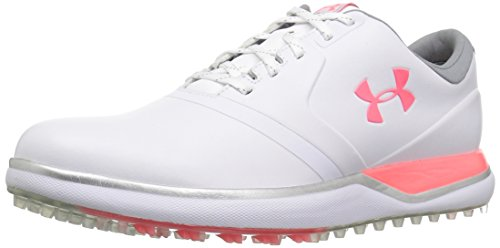 Under Armour Women's Performance Spikeless Golf Shoe, White (100)/Brilliance, 7