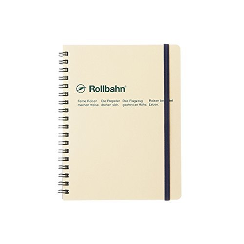 Roruban Memo Pad with the Pocket B6 Grid 70 Pages Cream by Roruban