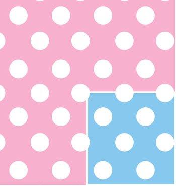 Baby Polka Dot Gift Wrap Flat Wrap 24'' X 6' by Premium Gift Wrap