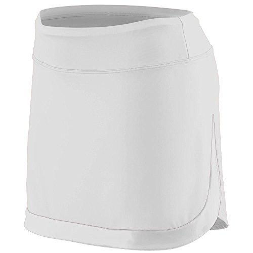 Augusta Sportswear Girls' Action Color Block Skort M (Girls White Skort)
