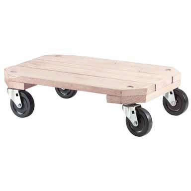 Shepherd Hardware 9854 Solid Wood Plant Dolly, 12-Inch x 18-Inch, 360-lb Load ()