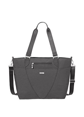(Baggallini Avenue Tote Bag - Lightweight, Water Resistant, Carry-On Travel Purse With Zippered Pockets and Laptop)