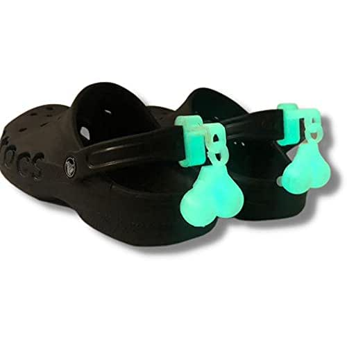 Croc Nuts, Croc balls are free swinging glow in the dark to add to your croc with a back strap - Spurs For Croc - Croc Accessories - Croc Clips For Shoes - Shoe Accessories - Croc Spurs Accessories