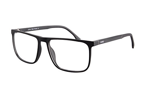 SHINU TR90 Lightweight Frame Progressive Multifocus Blue Light BlockingReading Glasses-SH078(matte black, anti-blue up 0 down - Glasses Reading Lens Large
