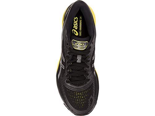 ASICS Men's Gel-Nimbus 21 Running Shoes, 7M, Black/Lemon Spark by ASICS (Image #2)