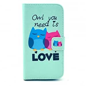 LOVE Owls TPU Leather Case For Samsung Galaxy S4 i9500