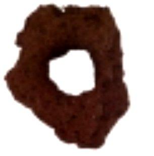 3 Lavastones with hole, decoration for aquarium and terrarium Feed