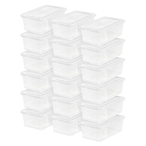 IRIS USA, Inc. CNL-6 6 Quart Non-Latching Box, 18 Pack, Clear,