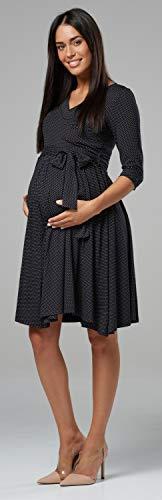 Manches Noir Femme Maternit 4 Happy Couche 609p Double Pois Robe Mama 3 d'allaitement tX6wSP