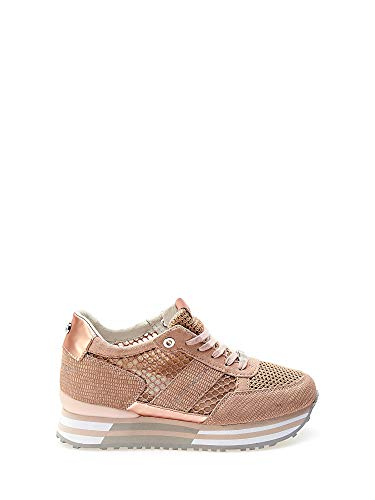 (Apepazza Women's Shoes Low Sneakers with Internal Wedge RSD30 / NET RICCARDA Cipria Size 38 Powder )