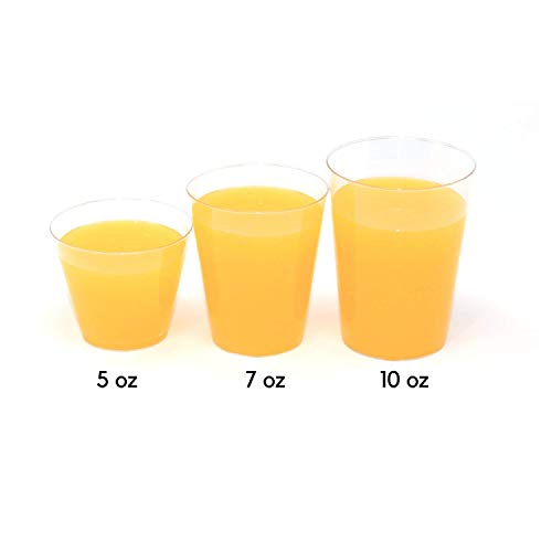 - Disposable Plastic Tumblers 100-Count Clear Wine Cups - Drinking Glasses for Party (7 oz)