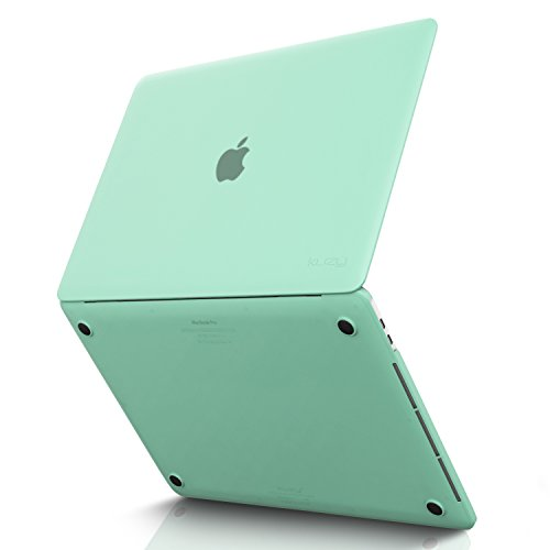 Kuzy - MacBook Pro 15 Case 2018 2017 2016 Release A1990 A1707, Plastic Hard Shell Cover for Newest MacBook Pro 15 inch case with/Without Touch Bar Soft Touch - Mint Green