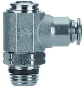 Aignep USA Male Fl Ctrl 6mm Tube x M5 Metal Release Collet Flow Out Knob Adjustment
