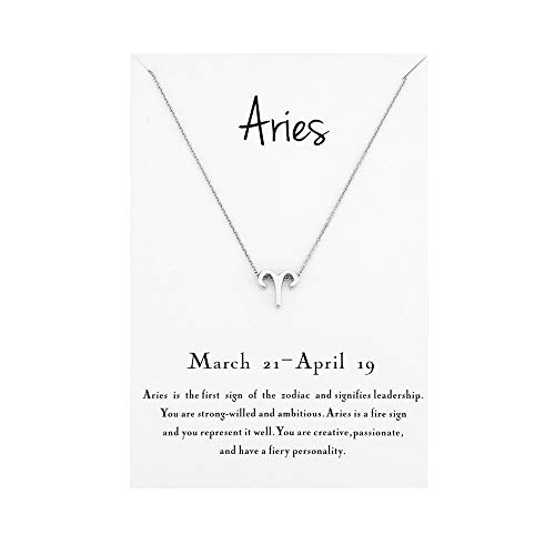 Mocya Aries Zodiac Necklace Women Jewelry Horoscope Constellation Pendant Astrology Birthday Gifts
