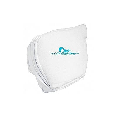 Hair Therapy Cordless Thermal Turban Heat Wrap - White