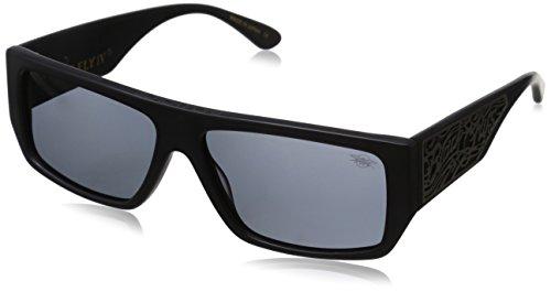 Black Flys SCI Fly 4 Polarized Wrap Sunglasses, Matte Black, 59 - Fly Sunglass Black