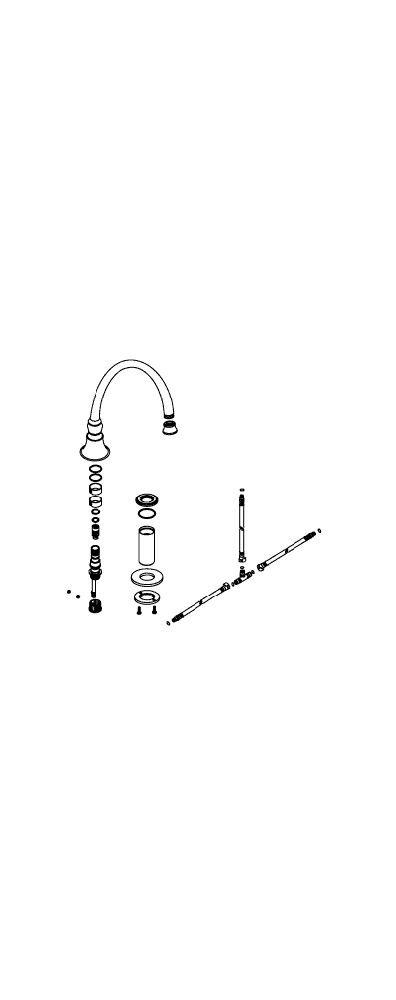 Kohler 1093052メーカー交換パーツ、 1093052-CP B00NBU8RVU 光沢クロム