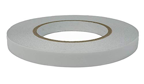 Ultra Thin Double Sided Adhesive Tape (1/2 Inches 55 Yards) Lasting, Acid Free & Heat Resistant, Double Sided Tape for Gifts, Photos, Scrapbooking, Documents, Wallpaper, Crafts, Card and Boxes