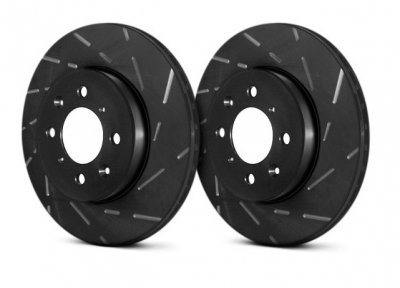 EBC USR411 Ultimax Black Dash Series Rear Pair Sport Slotted Rotor