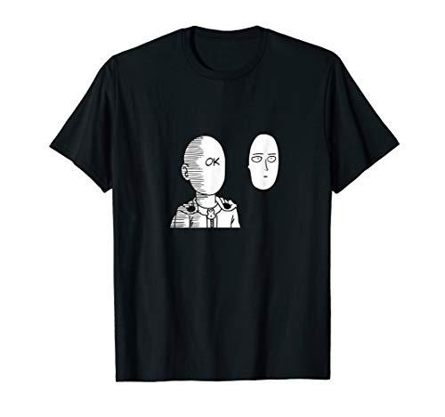 Saitama Ok Face Graphic Shirt - Oppai Otaku Manga Anime Tee ()