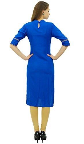 Baumwolle Koenigsblau Frauen und Set Indischen Freizeitkleidung Readymade Atasi Beige Straight Suit wUFx5P5Bq