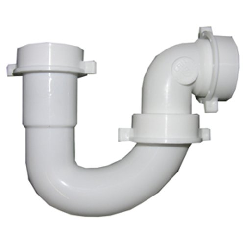 - LASCO 03-4231 White Plastic Tubular 1-1/2-Inch Repair J-Bend with Slip Joint Elbow Includes Nuts and Washers