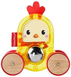 Fisher-Price Rollin\u2019 Surprise Rooster Push-Along Toy Vehicle for Baby