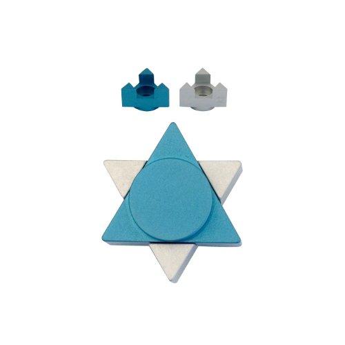 Travel Shabbat Candlesticks with Star of David Shape