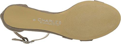 Charles Door Charles David Melissa Dames Sandalen Taupe Microsuede