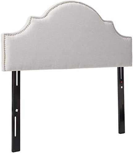 Christopher Knight Home 298915 Annette Light Grey Fabric Queen Full Headboard