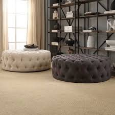 Ottoman Coffee Table Uk.Special Luxury Design Round Ottoman Seat Coffee Table Large Cream
