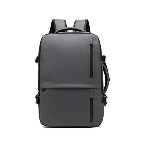 Multifunctional Travel Backpack,Laptop Daypack with USB Charging Port,High Capacity, Water Resistant, Dry and Wet Separation Design,with Trolley Case for Men,School,Work,Business,Gray