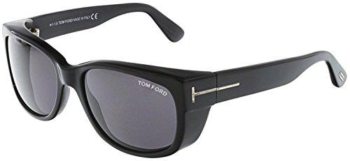 Tom Ford - CARSON FT 0441, Géométriques, acétate, homme, BLACK/DARK GREY(01A), 56/17/130