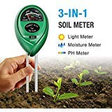 (DORARA Soil pH Meter, 3-in-1 Soil Tester Kits with Moisture,Light and PH Test for Garden, Farm, Lawn, Indoor & Outdoor (No Battery Needed))