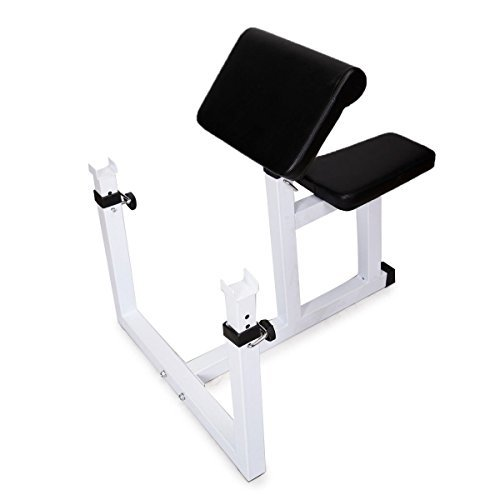 Muorka® Commercial Arm Preacher Curl Weight Bench Seated Preacher Isolated Curl Dumbbell Biceps