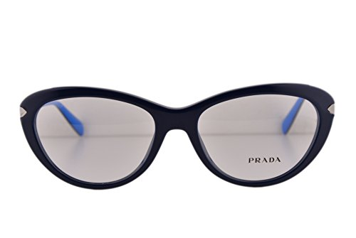 Prada PR08RV Eyeglasses 54-17-140 Blue TFM1O1 VPR08R For Women (FRAME - Prada Sunglasses Style Wayfarer