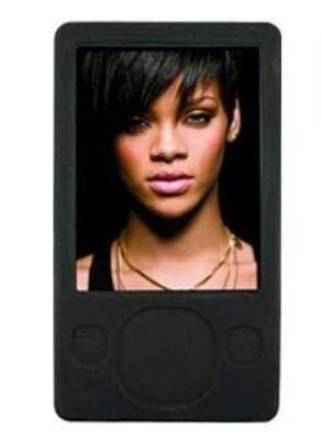 FastSun Microsoft Zune MP3 Player Case Skin, Soft Silicone Rubber Skin Cover Case for Microsoft Zune 80GB 120GB MP3 Player (Black) (Zune Silicone Cover)