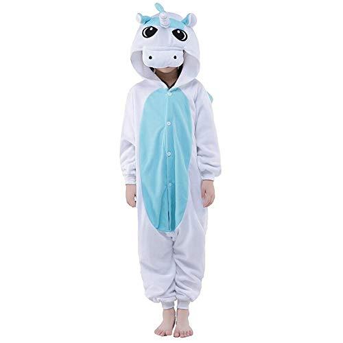 Cosplay Bleu Onesie De Grenouillère Noel Animaux En Licorne Garçon Costume Cadeau Fille Pyjama Ensemble Flanelle xIqg6w