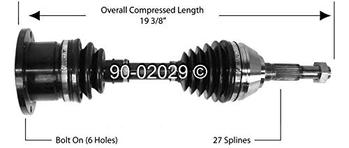 GMC 92-96 Jimmy// 83-91 S15 Jimmy// 91-96 Sonoma// 91 Syclone// 92-93 Typhoon Front Left Right CV Axle Half Shaft Assembly fit for Chevy Blazer S10// S10// S10 Blazer 91-96 Olds Bravada