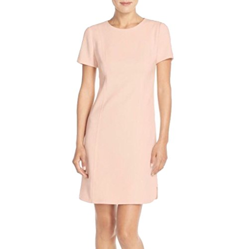 Seamed Shift Dress (Vince Camuto Seamed Shift Dress for Women in Blush, 12)