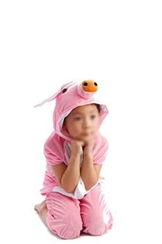 Children's Animal Clothing Halloween Cosplay Jumpsuitstage Costumes,Pink Pig,110cm