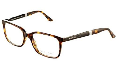 Bvlgari Men's BV3018 Eyeglasses Dark Havana - Bvlgari Eyeglasses Men