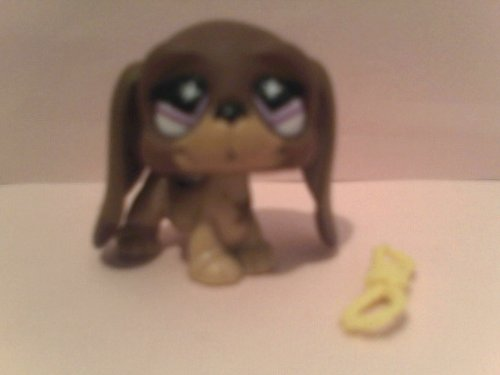Littlest Pet Shop Collectible Series Basset Hound Figure with Chew Rope, Loose Out of Package Replacement Figure
